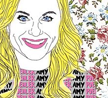 Amy Poehler floral by Lauraptor