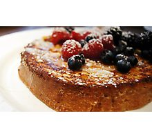 Brioche French Toast with Berries Photographic Print