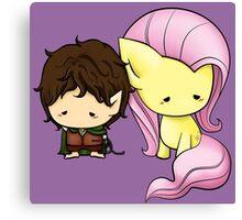 Frodo & Fluttershy Canvas Print