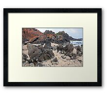 Natural froth, Chris Bell Framed Print