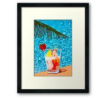 Tutti frutti ice cream by the pool in Mombasa, Kenya Framed Print