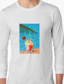 Tutti frutti ice cream by the pool in Mombasa, Kenya Long Sleeve T-Shirt