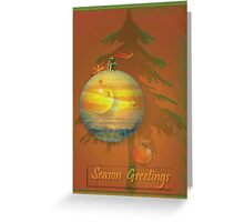 Summer Sunset  Christmas Greeting Card