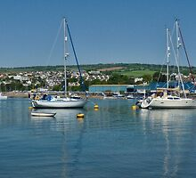 Boats in Teignmouth harbour-Devon Uk by lynn carter