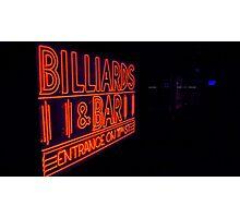 Neon Billiards Photographic Print