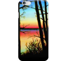 Charlie Lake Sunset Silhouette iPhone Case/Skin