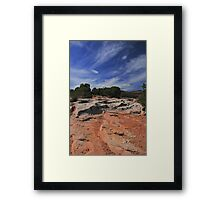 Earth Trees And Sky Framed Print