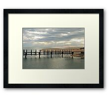 Monkey Mia Jetty Framed Print