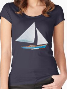 Sail Boat Women's Fitted Scoop T-Shirt