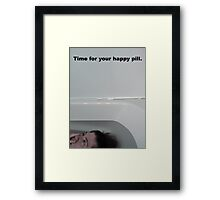 Time for your happy pill Framed Print