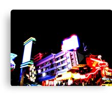 Club Night Lights Canvas Print