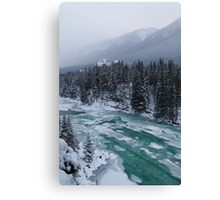 Icy Bow river Canvas Print