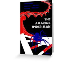 Amazing Spider-Man Pulp Poster Greeting Card