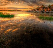 Sunset Calm 2 by Bob Larson