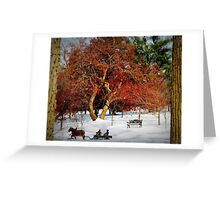 Sleigh Ride In The Snow Greeting Card