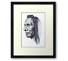 Old Indian Man Framed Print