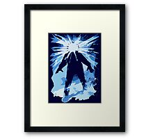 Man is the warmest place to hide ... Framed Print