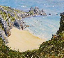 Pednvounder beach, Cornwall. by Joe Trodden
