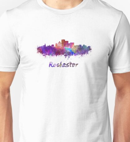 Rochester skyline in watercolor Unisex T-Shirt