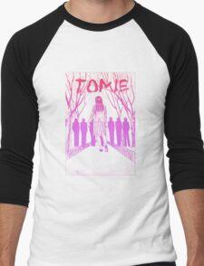Tomie Cover (pink gradient) Men's Baseball ¾ T-Shirt