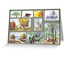 South African Tree Collection Greeting Card