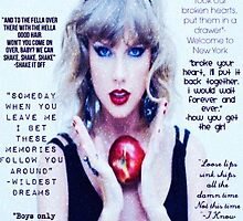 Taylor Swift 1989 Lyrics Part 2 by ashy1318