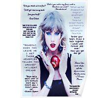 Taylor Swift 1989 Lyrics Part 2 Poster