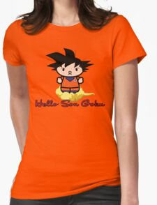Hello Son Goku, Dragonball Z Womens Fitted T-Shirt