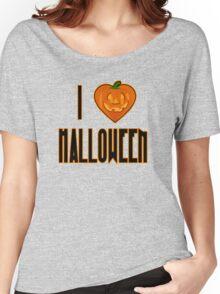 I Love Halloween I Heart Halloween with Pumpkin Women's Relaxed Fit T-Shirt