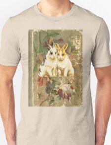 Easter Rabbit Bunnies Victorian Book Unisex T-Shirt