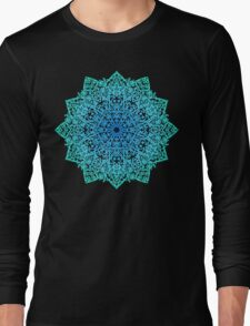 Mandala *green, blue & black* Long Sleeve T-Shirt