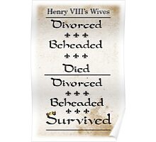 Henry VIII's Six Wives Poster