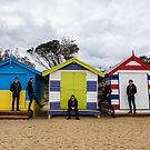Brighton Beach Huts by Malcolm Katon