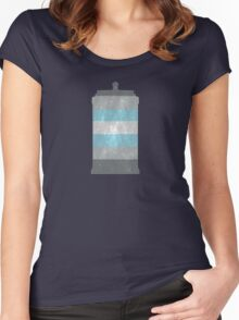 Demiboy Pride Police Box Women's Fitted Scoop T-Shirt