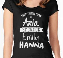 pretty little liars Women's Fitted Scoop T-Shirt