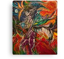 Neo Consciousness: A Connecting and Synthesizing period between Self and Universe, becoming One. Canvas Print