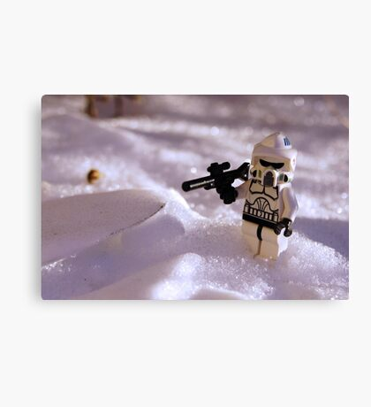 Snow Trooper Canvas Print