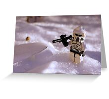 Snow Trooper Greeting Card