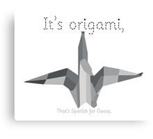 Saturday Night Live S38E10 | Origami Canvas Print
