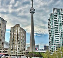 CN Tower from the Harbourfront by acolleau