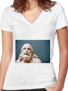 philosophy of pleasure Women's Fitted V-Neck T-Shirt