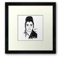 Lauren / Mulan Digital Sketch  Framed Print