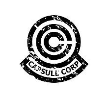 Capsule Corporation Classic Black Vintage Logo (Dragonball Z) Photographic Print