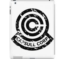 Capsule Corporation Classic Black Vintage Logo (Dragonball Z) iPad Case/Skin