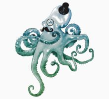 Monocle Octopus One Piece - Short Sleeve