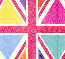 Pink Union Jack by Claire Dimond