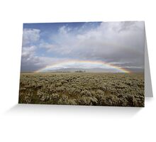 Double Rainbow Greeting Card