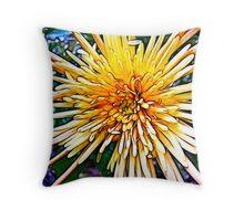 In my garden - flower fractalius Throw Pillow