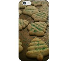 Sugared Christmas Tree Spritz Cookies iPhone Case/Skin