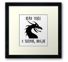 Tickle A Dragon Framed Print